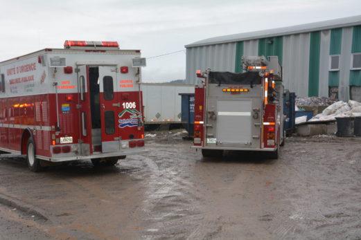 Début d'incendie au centre de tri de Saint-Pascal