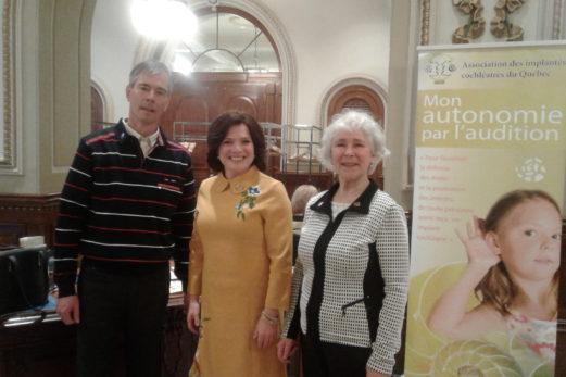 Journée nationale de l'implant cochléaire : Cécile Viel à l'Assemblée nationale pour sensibiliser