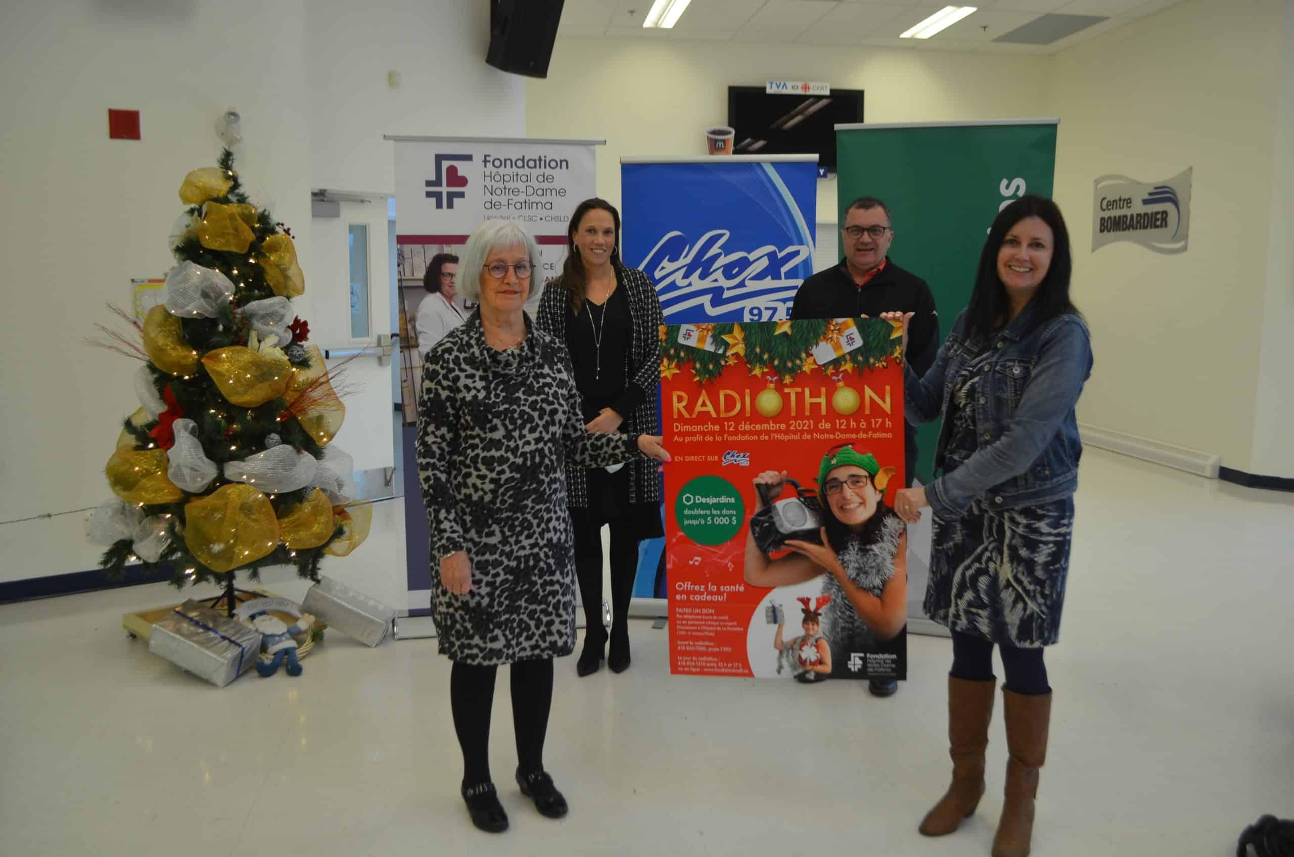 Un radiothon de Noël pour la Fondation de l'Hôpital
